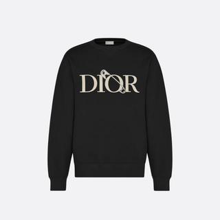 ディオール(Dior)のDIOR AND JUDY BLAME 黒 スウェットシャツ L 即完売(スウェット)