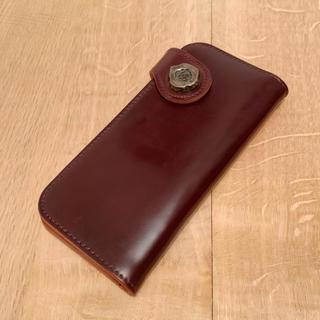 ゴローズ(goro's)のWINS HOUSE 長財布 ウォレット コードバン 茶 ブラウン 美品(長財布)