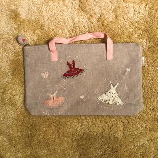 バレエ 刺繍 ポーチ ミニバッグ(ポーチ)
