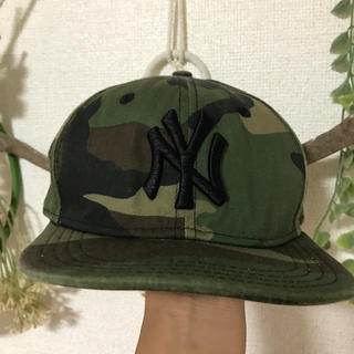 ニューエラー(NEW ERA)のNY☆NEWERA迷彩キャップ52センチ(帽子)