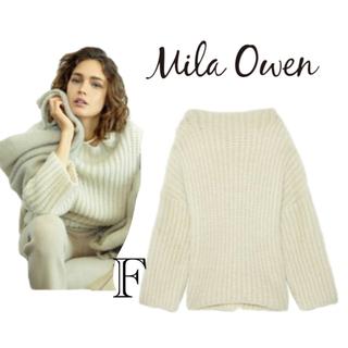 ミラオーウェン(Mila Owen)の【新品未使用タグ】Mila Owen ローゲージオーバーニット(ニット/セーター)