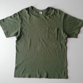 ウエアハウス(WAREHOUSE)のWAREHOUSE/胸ポケットT シャツ/着用1回美USED/シャドーボーダー(Tシャツ/カットソー(半袖/袖なし))