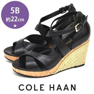 コールハーン(Cole Haan)のほぼ新品❤️コールハーン NIKE AIR ウェッジソールサンダル 5B(約22(サンダル)