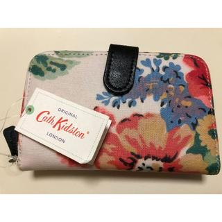 キャスキッドソン(Cath Kidston)の新品  CathKidston キャスキッドソン 二つ折り財布 白(黒ベルト)(折り財布)