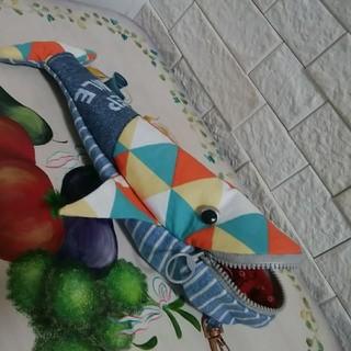 クジラポーチ ペンケース ポケット付き(ポーチ)