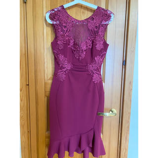 リプシー(Lipsy)のリプシー  LIPSY  ドレス ピンク プラム タイト(ミニドレス)