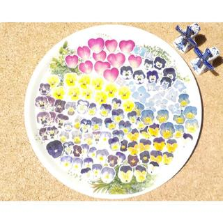 NO.481 お得!本物!押し花 シール ビオラ 薔薇 紫陽花 100枚 (カード/レター/ラッピング)