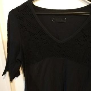 ジーナシス(JEANASIS)のジーナシス カットソー 黒 (Tシャツ(半袖/袖なし))