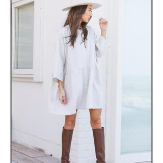アリシアスタン(ALEXIA STAM)のアリシアスタン♡Stand Collar Shirt Dress Beige  (ロングワンピース/マキシワンピース)