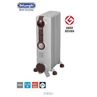 デロンギ(DeLonghi)のデロンギ オイルヒーター 1200W 8~10畳 JR0812-BR ホワイト(オイルヒーター)