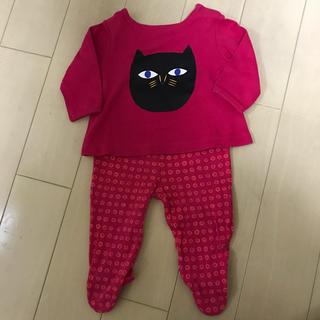 マリメッコ(marimekko)のmarimekkoのunikkoのベビー服上下セット(Tシャツ/カットソー)