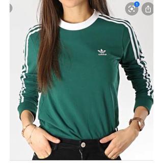 Adidas アディダス 3ストライプス 長袖 Tシャツ Mサイズ