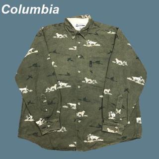 コロンビア(Columbia)の【犬総柄】コロンビア☆希少デザイン総柄シャツM1514(シャツ)
