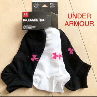 UNDER ARMOUR - 新品 アンダーアーマー レディース ソックス 3足
