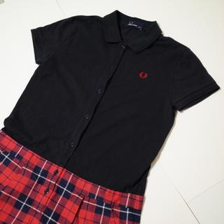 フレッドペリー(FRED PERRY)のFRED PERRY 切り替えし 半袖 ポロシャツ ワンピース(ひざ丈ワンピース)