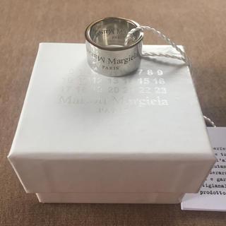 マルタンマルジェラ(Maison Martin Margiela)の20AW新品L メゾン マルジェラ リバースロゴ リング シルバー 指輪 メンズ(リング(指輪))