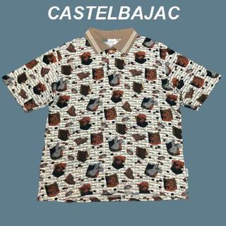 カステルバジャック(CASTELBAJAC)の【アニマル総柄】カステルパジャック☆入手困難ポロシャツM1483(ポロシャツ)
