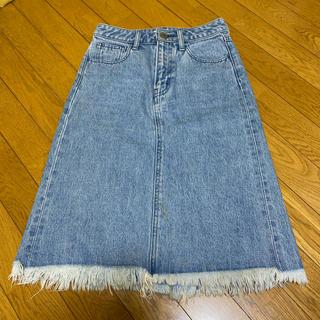 マウジー(moussy)のMOUSSYデニムスカート(ひざ丈スカート)
