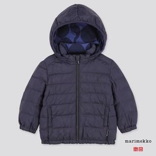 マリメッコ(marimekko)の海外限定 marimekko×ユニクロ ダウンジャケット80 紺 マリメッコ(ジャケット/コート)