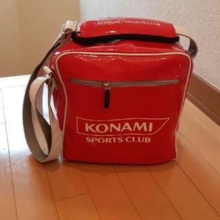 コナミ(KONAMI)のコナミKONAMI運動塾プールバック赤エナメル(レッスンバッグ)
