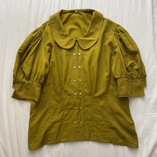ロキエ(Lochie)のvintage pistachio blouse(シャツ/ブラウス(半袖/袖なし))