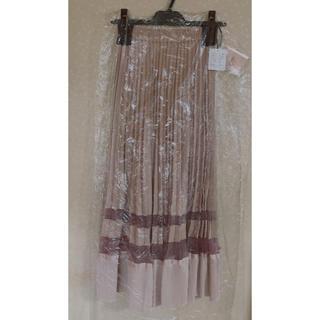 エイミーイストワール(eimy istoire)のシアーコンビプリーツスカート ♡ PINK(ロングスカート)