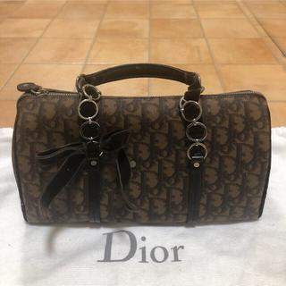 クリスチャンディオール(Christian Dior)の✨美品✨ Dior * ミニ ボストン トロッター柄 ♡正規品♡(ボストンバッグ)