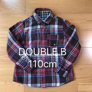 ミキハウス(mikihouse)のDOUBLE.B  リバーシブル シャツ 110cm(ブラウス)