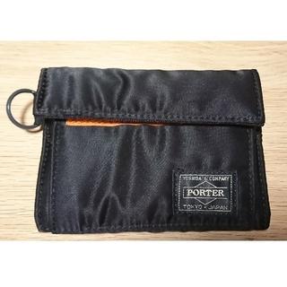 ポーター(PORTER)のPORTER タンカー 二つ折り財布 ブラック(折り財布)