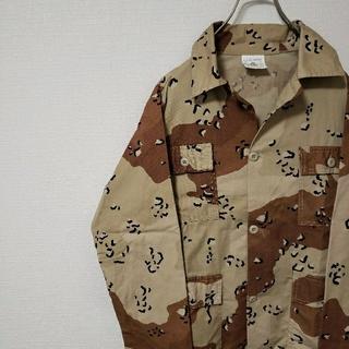 エルエルビーン(L.L.Bean)のUSA製 GI juniors ビンテージ デザートカモシャツ(Gジャン/デニムジャケット)