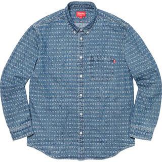 シュプリーム(Supreme)のSupreme Jacquard Logos Denim Shirt M(シャツ)