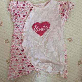 バービー(Barbie)のバービー ロンパース 60〜70(カバーオール)