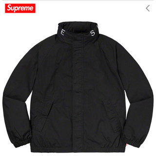 シュプリーム(Supreme)のSupreme Raglan Court Jacket L ブラック(ブルゾン)