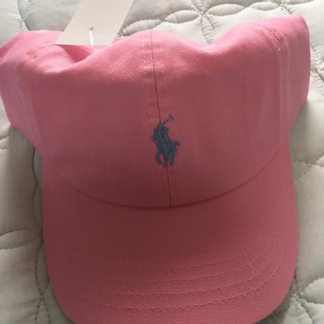Ralph Lauren(ラルフローレン)の希少性新品 ポロ ラルフローレン ピンク メンズの帽子(キャップ)の商品写真