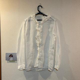 ネストローブ(nest Robe)のネストローブ ホワイトリネンフリル襟付きブラウス(シャツ/ブラウス(長袖/七分))