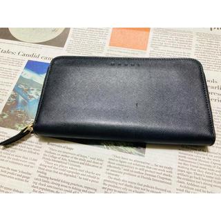 マルニ(Marni)の【MARNI】サフィアーノ 長財布 ブラック / 黒 ラウンドファスナー(財布)