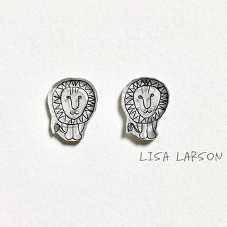 リサラーソン(Lisa Larson)のリサラーソン ライオン ピアス(ピアス(両耳用))
