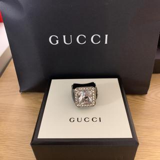 グッチ(Gucci)の新品未使用 GUCCI  グッチ シルバーリング 宝石 15号(リング(指輪))