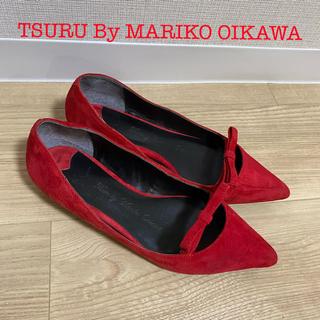 TSURU by Mariko Oikawa - TSURU By MARIKO OIKAWA スエードリボンフラットシューズ