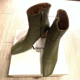 アメリヴィンテージ(Ameri VINTAGE)の【AMERI】 WOOD CIRCLE HEEL BOOTS(ブーツ)