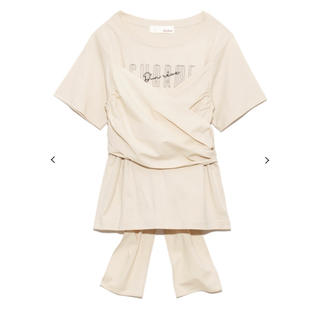 リリーブラウン(Lily Brown)のLily Brown ビスチェドッキングロゴTシャツ(Tシャツ(半袖/袖なし))
