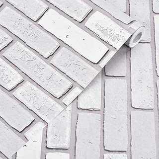 グレーレンガ45cmX10m壁紙 Harmn home 壁紙シール レンガ タイ(型紙/パターン)