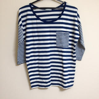 ジーユー(GU)のドルマンボーダーT(Tシャツ(長袖/七分))