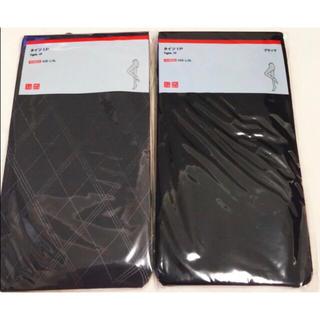 ユニクロ(UNIQLO)の【新品未使用】ユニクロ タイツ2足セット 黒 L~XL(タイツ/ストッキング)