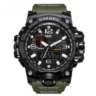 SMAEL 1545 スポーツウォッチ(アーミーグリーン)(腕時計(デジタル))