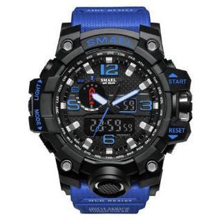 SMAEL 1545 スポーツウォッチ(ブルー②)(腕時計(デジタル))