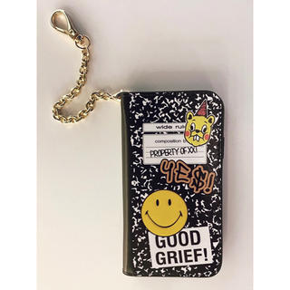 ドゥーズィエムクラス(DEUXIEME CLASSE)のGOOD GRIEF! SMILE patched iPhone CASE(iPhoneケース)