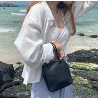 ディーホリック(dholic)の【予約商品】レザー調 黒 青 ミニバッグ 韓国ファッション 秋 4色(ハンドバッグ)