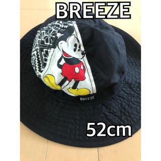 ブリーズ(BREEZE)のBREEZE ミッキー  ハット 52cm 帽子 ブリーズ 黒 ブラック(帽子)