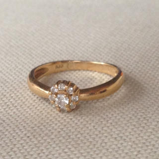 K18 ダイヤモンド リング 18金 ピンキーリング(リング(指輪))